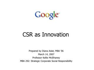 CSR as Innovation