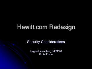 Hewitt.com Redesign