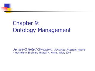 Chapter 9: Ontology Management
