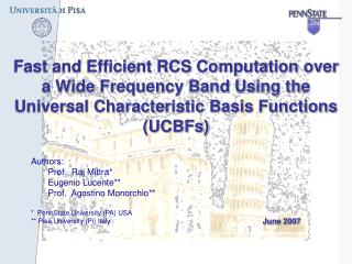 Fast and Efficient RCS Computation over a Wide Frequency Band Using the Universal Characteristic Basis Functions (UCBFs