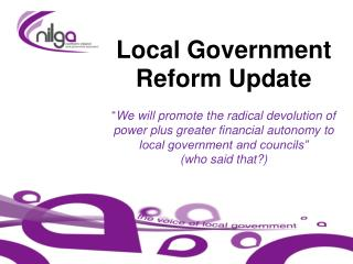 Current Reform Issues