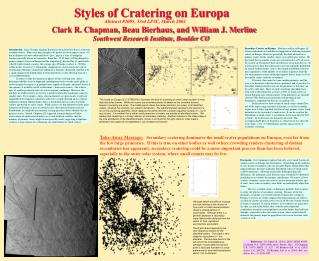 Styles of Cratering on Europa