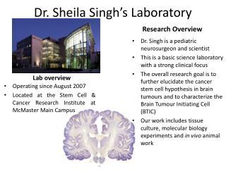 Dr. Sheila Singh's Laboratory