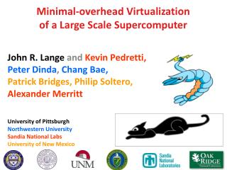 Minimal-overhead Virtualization of a Large Scale  Supercomputer