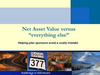 "Net Asset Value versus ""everything else"""