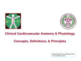 Clinical Cardiovascular Anatomy & Physiology Concepts, Definitions, & Principles