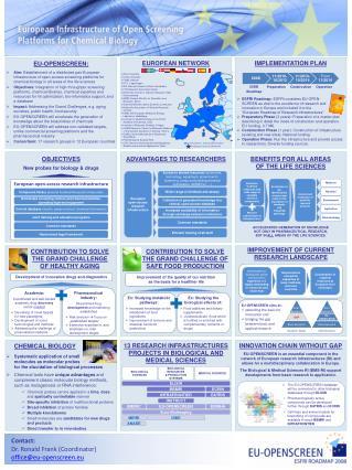 Contact : Dr. Ronald Frank ( Coordinator ) office@eu-openscreen.eu