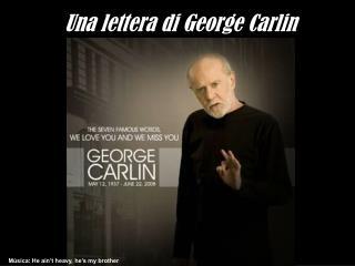 Una lettera di George Carlin