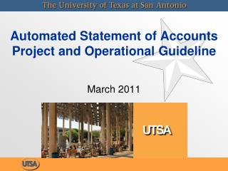 Automated Statement of Accounts Project and Operational Guideline