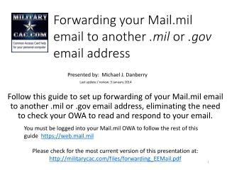 Forwarding your Mail.mil email to another  .mil  or  .gov  email address
