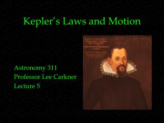 Kepler's Laws and Motion