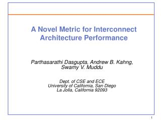 A Novel Metric for Interconnect Architecture Performance