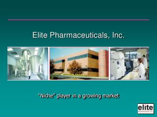 Elite Pharmaceuticals, Inc.