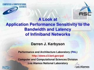 A Look at  Application Performance Sensitivity to the  Bandwidth and Latency of Infiniband Networks
