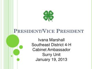 President/Vice President