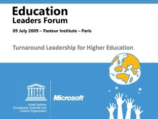 Turnaround Leadership for Higher Education