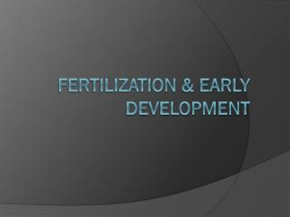 Fertilization & Early Development
