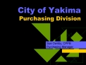 City of Yakima Purchasing Division
