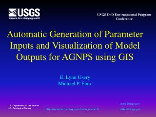 Automatic Generation of Parameter Inputs and Visualization of Model Outputs for AGNPS using GIS