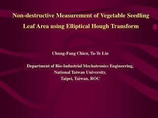 Non-destructive Measurement of Vegetable Seedling Leaf Area using Elliptical Hough Transform