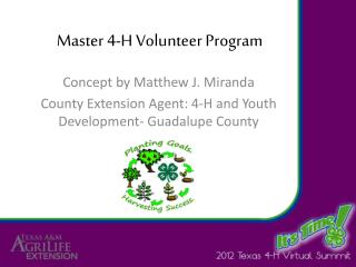 Master 4-H Volunteer Program