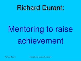 Richard Durant: