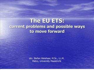 The EU ETS:  current problems and possible ways to move forward
