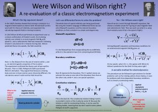 Were Wilson and Wilson  right? A  re-evaluation of a classic electromagnetism  experiment
