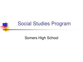 Social Studies Program