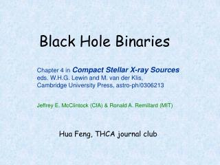 Black Hole Binaries