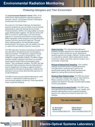 Environmental Radiation Monitoring