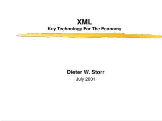 XML Key Technology For The Economy