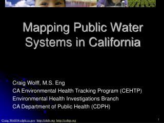 Mapping Public Water Systems in California