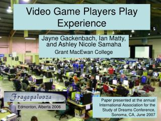 Video Game Players Play Experience