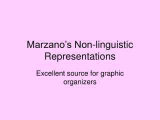 Marzano's Non-linguistic Representations