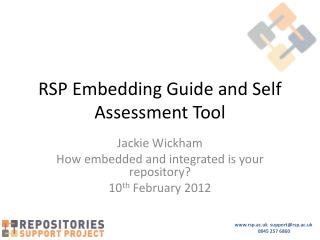 RSP Embedding Guide and Self Assessment Tool