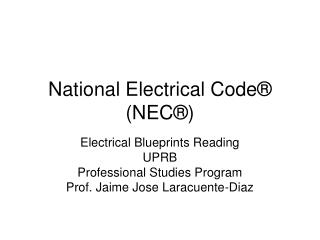 National Electrical Code® (NEC®)
