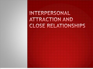 Interpersonal Attraction and Close Relationships