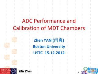 ADC Performance and Calibration of MDT Chambers