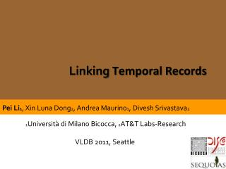 Linking  Temporal Records
