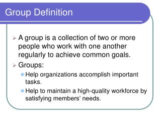 Group Definition