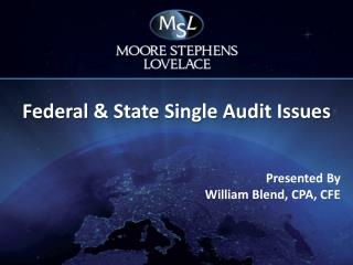 Federal & State Single Audit Issues