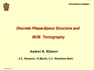 Discrete Phase-Space Structure and  MUB  Tomography