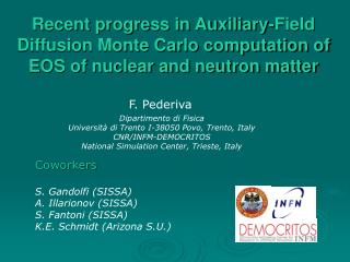 Recent progress in Auxiliary-Field Diffusion Monte Carlo computation of EOS of nuclear and neutron matter
