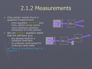 2.1.2 Measurements