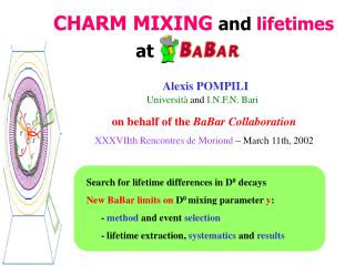 CHARM MIXING and  lifetimes