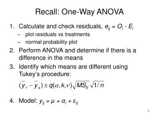 Recall: One-Way ANOVA