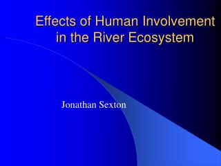 Effects of Human Involvement in the River Ecosystem