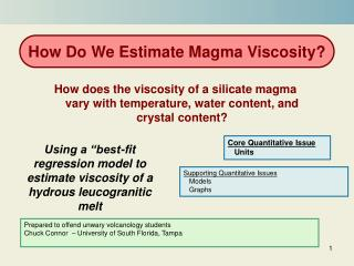 "Using a ""best-fit regression model to estimate viscosity of a hydrous leucogranitic melt"