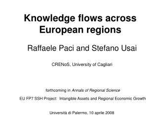 Knowledge flows across European regions